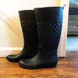 Black Rain Boots Target Size 8 Gently Lightly Worn